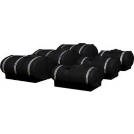 850 Gallon Black Elliptical Tank