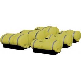 1000 Gallon Yellow Elliptical Tank