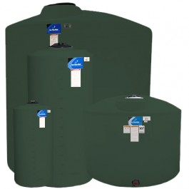 210 Gallon Green Vertical Storage Tank
