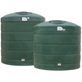 12500 Gallon Dark Green Vertical Water Storage Tank