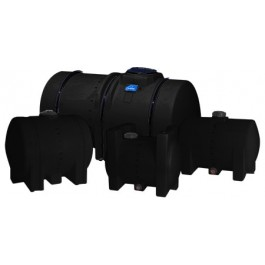 1300 Gallon Black Horizontal Leg Tank