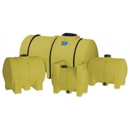 325 Gallon Yellow Horizontal Leg Tank
