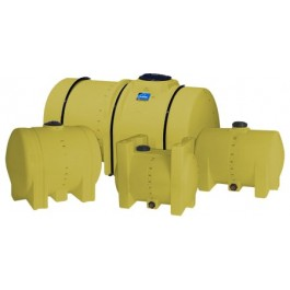 1300 Gallon Yellow Horizontal Leg Tank