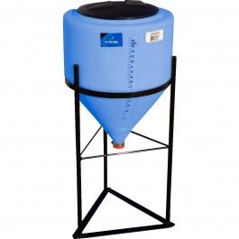 15 Gallon Light Blue Inductor Full Drain Cone Bottom Tank
