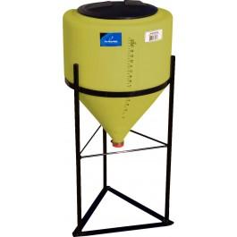 15 Gallon Yellow Inductor Full Drain Cone Bottom Tank