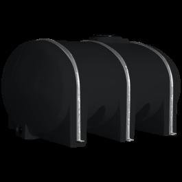 1035 Gallon Black Elliptical Leg Tank
