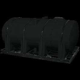 2750 Gallon Black Elliptical Leg Tank