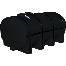 3250 Gallon Black Elliptical Leg Tank