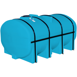 3250 Gallon Light Blue Elliptical Leg Tank