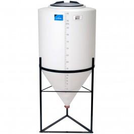 55 Gallon Inductor Full Drain Cone Bottom Tank