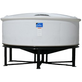 840 Gallon Open Top Cone Bottom Tank with bolt-on top