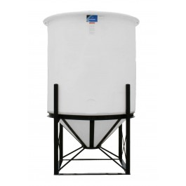1010 Gallon Open Top Cone Bottom Tank with bolt-on top
