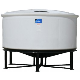 1050 Gallon Open Top Cone Bottom Tank with bolt-on top