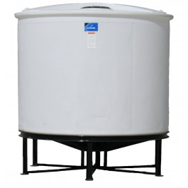 1710 Gallon Open Top Cone Bottom Tank with bolt-on top