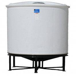 2350 Gallon Open Top Cone Bottom Tank with bolt-on top