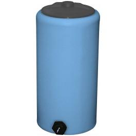 10 Gallon Light Blue Vertical Storage Tank