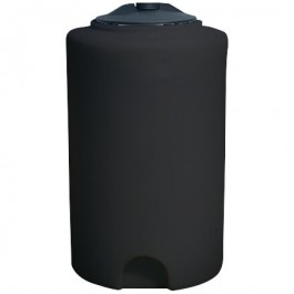 20 Gallon Black Vertical Water Storage Tank