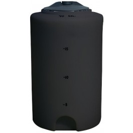 20 Gallon Black Vertical Storage Tank