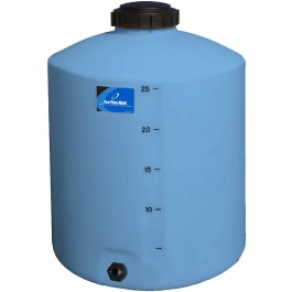 25 Gallon Light Blue Vertical Storage Tank