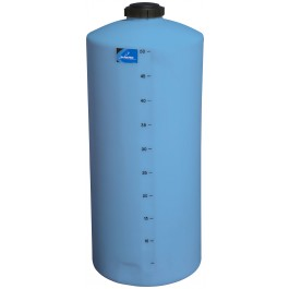 55 Gallon Light Blue Vertical Storage Tank