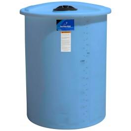 55 Gallon Light Blue Vertical Storage Tank