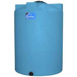 130 Gallon Light Blue Vertical Storage Tank