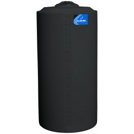 160 Gallon Black Vertical Storage Tank