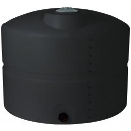 625 Gallon Black Vertical Storage Tank