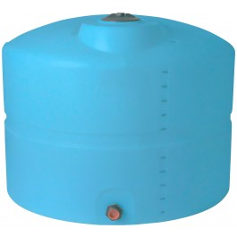 625 Gallon Light Blue Vertical Storage Tank