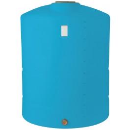 1000 Gallon Light Blue Vertical Storage Tank