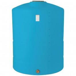 1200 Gallon Light Blue Vertical Storage Tank