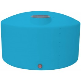 1350 Gallon Light Blue Vertical Storage Tank