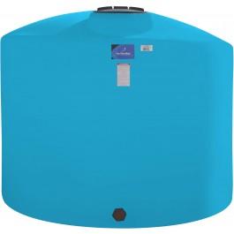 1500 Gallon Light Blue Vertical Storage Tank