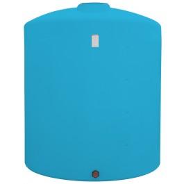 2500 Gallon Light Blue Vertical Storage Tank
