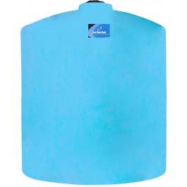 3000 Gallon Light Blue Vertical Storage Tank