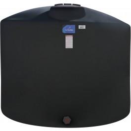 3400 Gallon Black Vertical Storage Tank