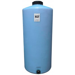 65 Gallon Light Blue Vertical Storage Tank