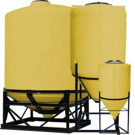 55 Gallon Yellow Inductor Full Drain Cone Bottom Tank