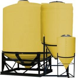 345 Gallon Yellow Cone Bottom Tank