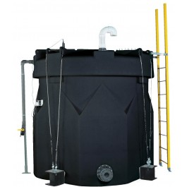 3500 Gallon ASTM XLPE Black Double Wall Tank
