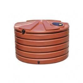 1110 Gallon Brick Red Rainwater Collection Storage Tank