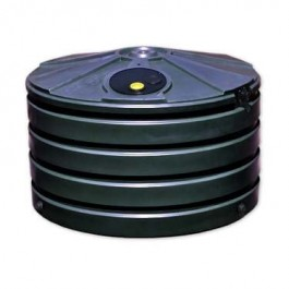 660 Gallon Black Rainwater Collection Storage Tank