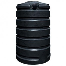 205 Gallon Black Vertical Water Storage Tank