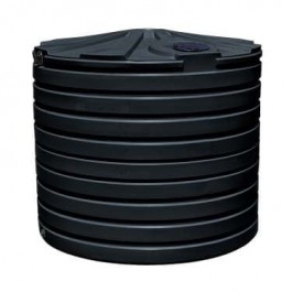 2825 Gallon Black Rainwater Collection Storage Tank
