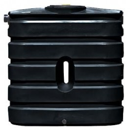 130 Gallon Black Slimline Rainwater Storage Tank