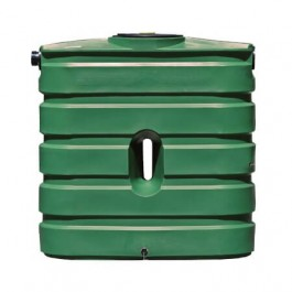 130 Gallon Green Slimline Water Storage Tank