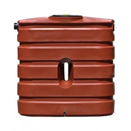 130 Gallon Brick Red Slimline Rainwater Storage Tank