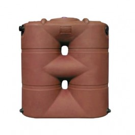 265 Gallon Brick Red Slimline Rainwater Storage Tank