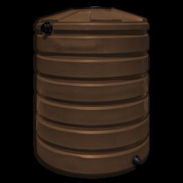 420 Gallon Dark Brown Vertical Water Storage Tank