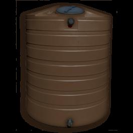 865 Gallon Dark Brown Vertical Water Storage Tank